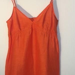 Gorgeous orange raw silk dress, small